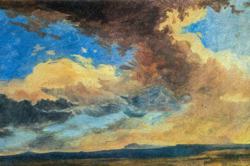 Adalbert Stifter, an Austrian writer, painted cloud formations and made weather phenomena an important motif of his stories as well.