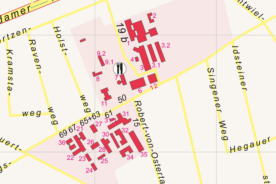 Map of Düppel campus