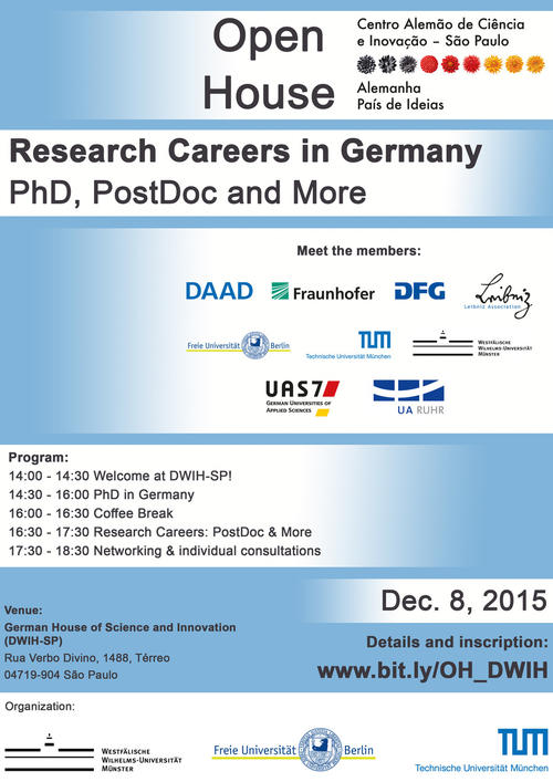 Open House at DWIH-SP: Research Careers in Germany