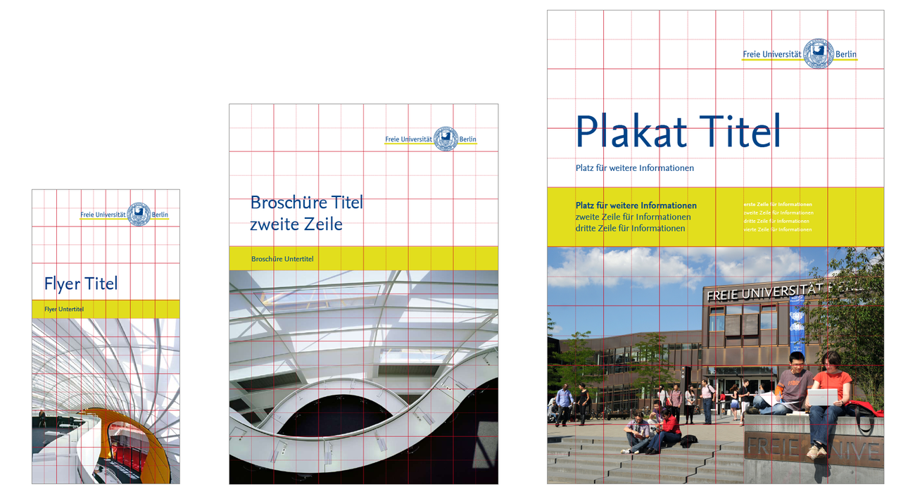 Print-Produkte • Corporate Design • Freie Universität Berlin