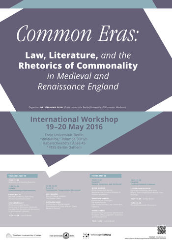 Workshop: Common Eras