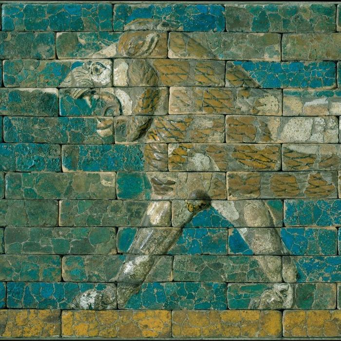 Panel with a Lion