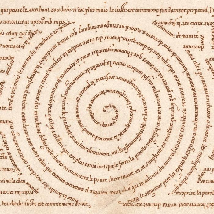 Micrographic Design in the Shape of a Labyrinth