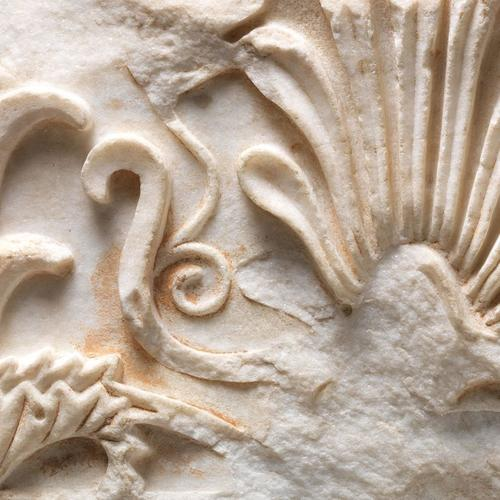 Marble, architectural fragment