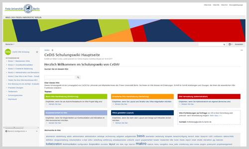 Schulungswiki Zum Wiki Digitale Lehr Und Lernressourcen Der Freien Universitat Berlin Freie Universitat Berlin