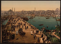Kara-Keui Galata-Bridge, Constantinople Turkey